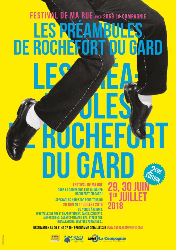 Affiche des Préambules de Rochefort du Gard 2018